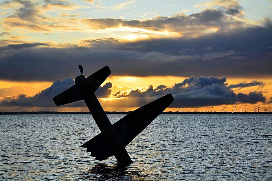 Monument bij zonsondergang.