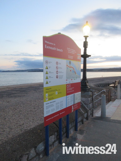 Exmouth beach here at dusk