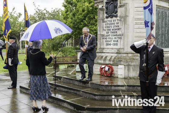 Battle of Britain Commemoration service. Tower Gardens Kings Lynn