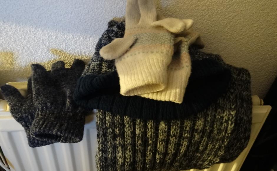 Koude start, leg muts, sjaal en handschoenen klaar