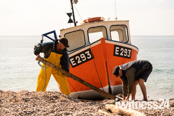Men at Work Branscombe Beach