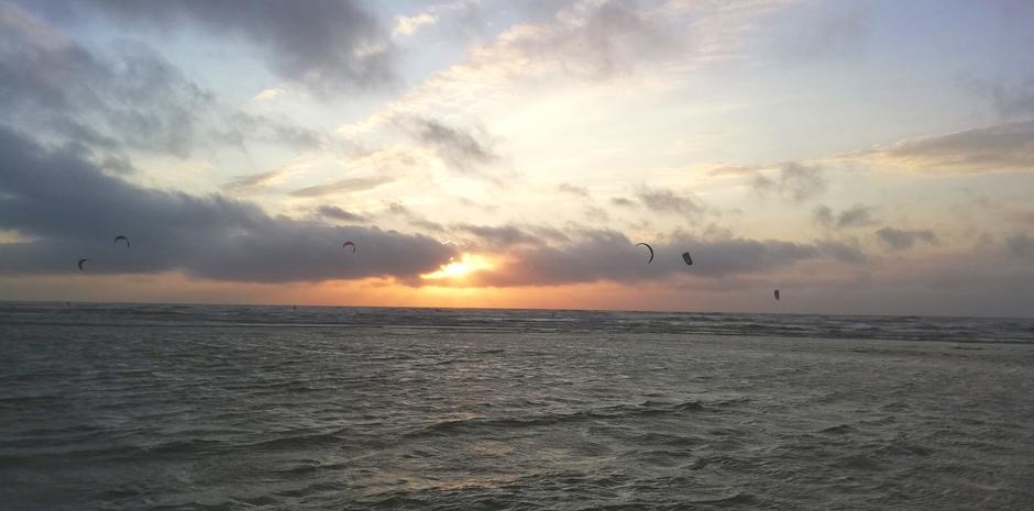 Zonsondergang Zandvoort!
