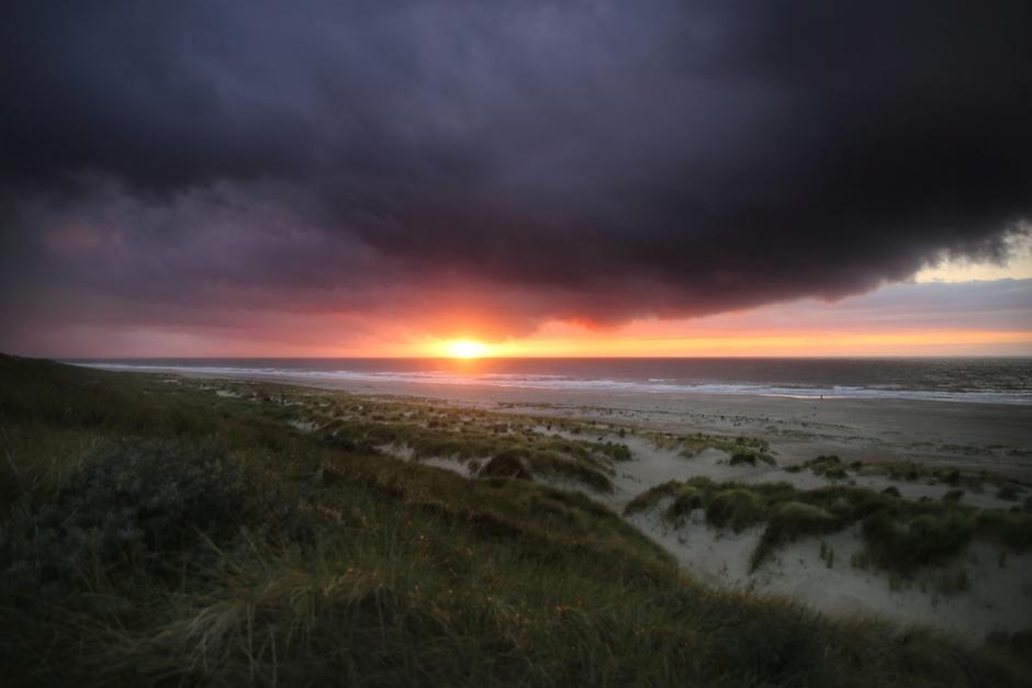 Op de Valreep een schitterende Zonsondergang!