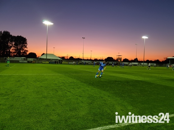 Amazing sky at Weston-super-Mare AFC
