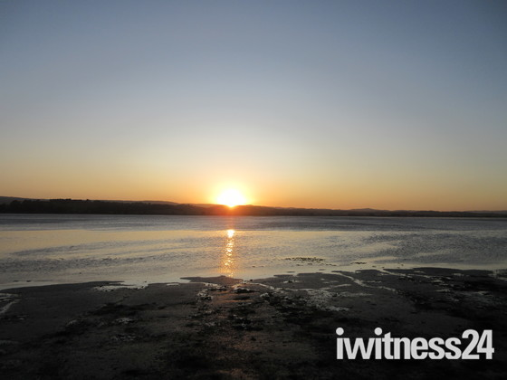 Sunset seen whilst the train journey out of Exmouth.