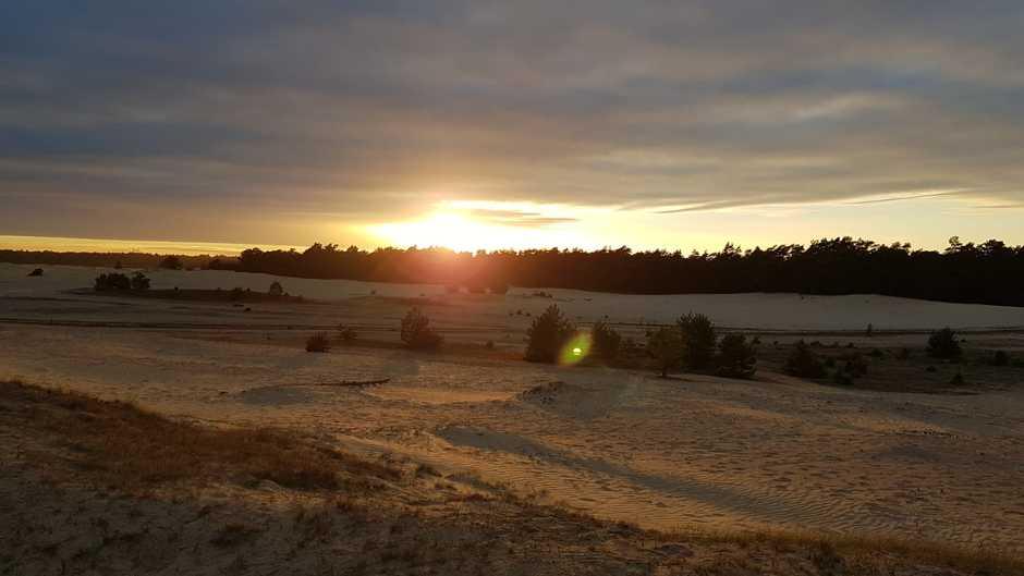 Mooie zonsondergang te zien op Beekhuizerzand.