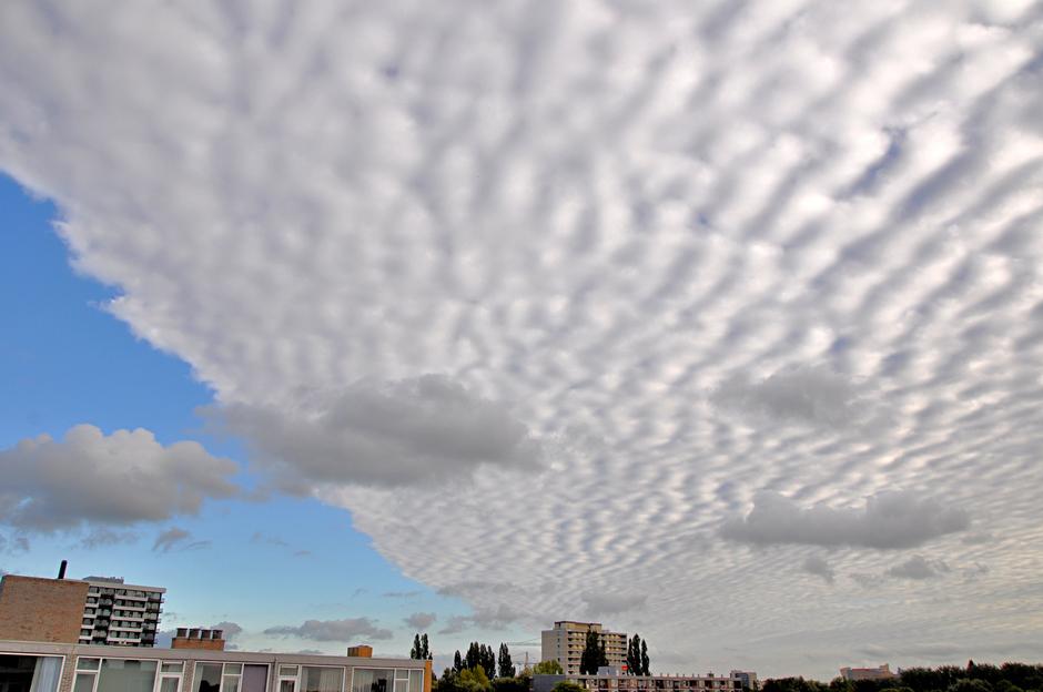 Opvallend wolkenfront