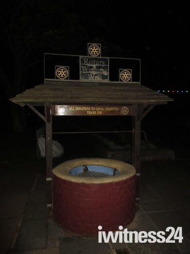 The Wishing well, opposite the Ocean Bowl & Grill