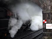 A wet Sunbday at Weybourne Station