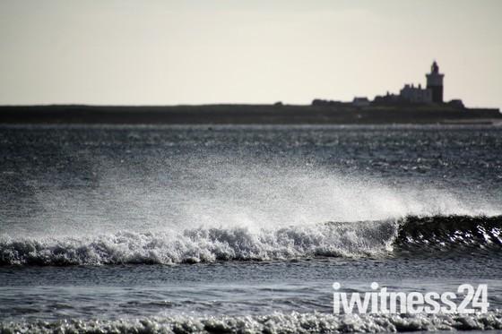 Off-shore wind spray