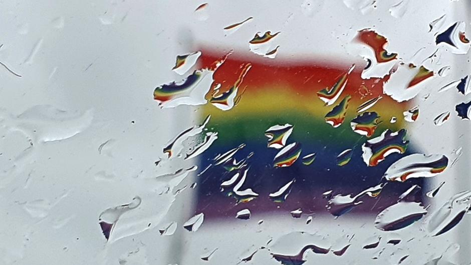 Regenboog op grijze dag!