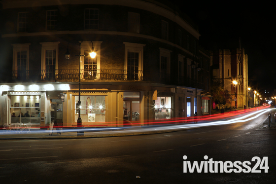 Bury St Edmunds at night