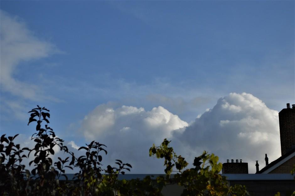 Opbouwende Cumuluswolken.