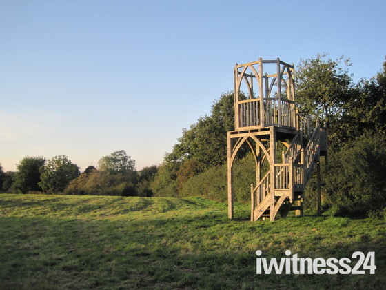 An architectural watch-tower