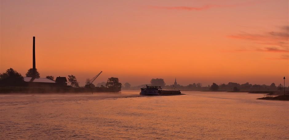 Voor zonsopkomst vanmorgen
