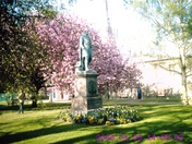 The statue of Wellington in the precinct of Norwich Cathedral