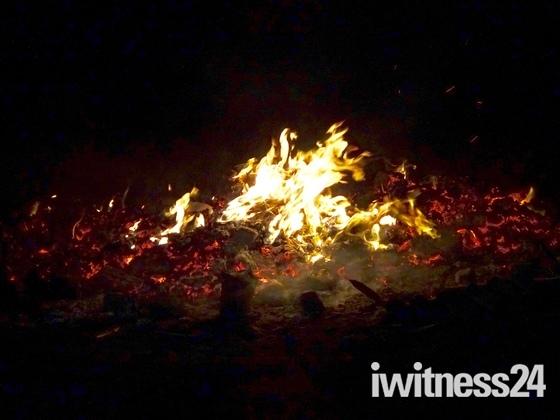 Bonfire and fireworks