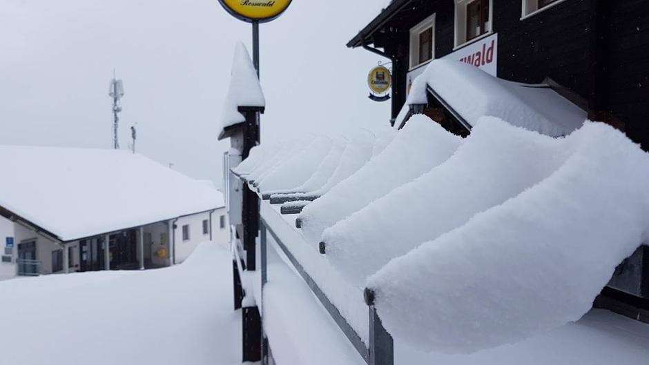 Sneeuwval Oberwallis (CH)