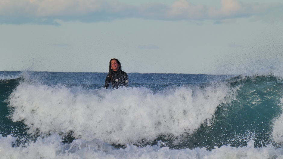 Ruige golven voor surfers