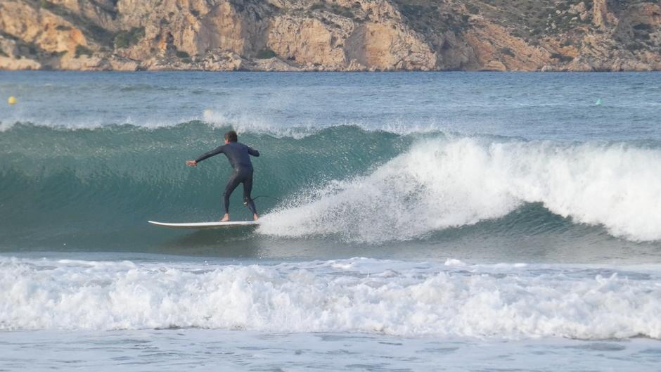 Hoge golven in Javea