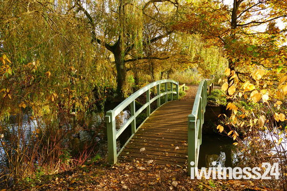 ACROSS THE BRIDGE FOR A COLOURFUL WALK