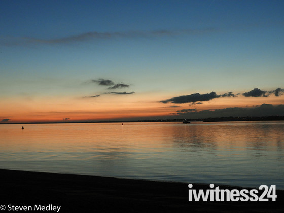Sunset at Felixstowe Docks