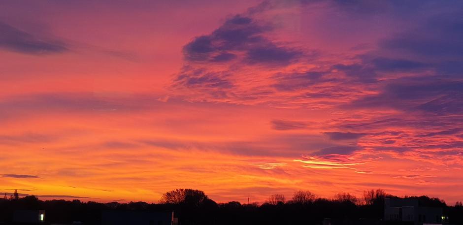 Mooie lucht van morgen in Amstelveen
