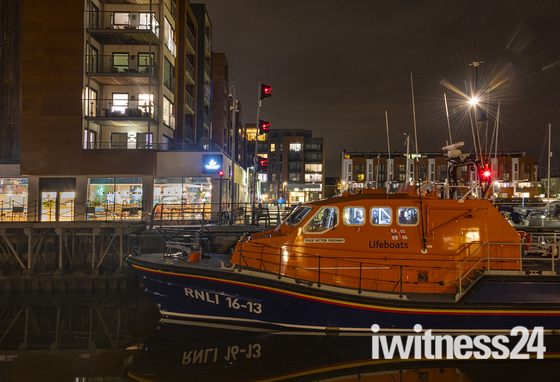 Portishead Marina by night