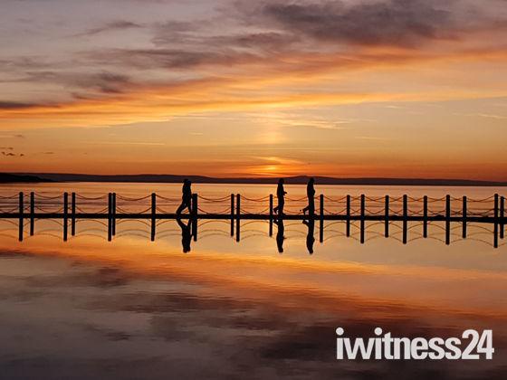 sunset over Marine Lake