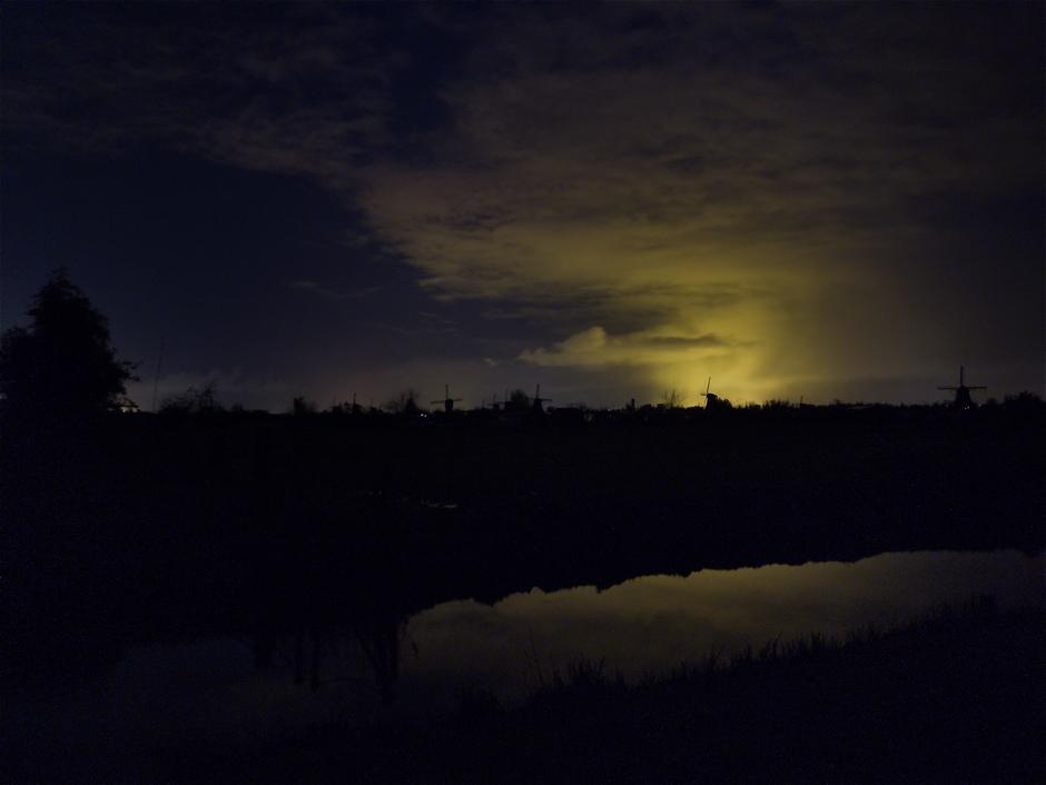 Verlichtte wolken