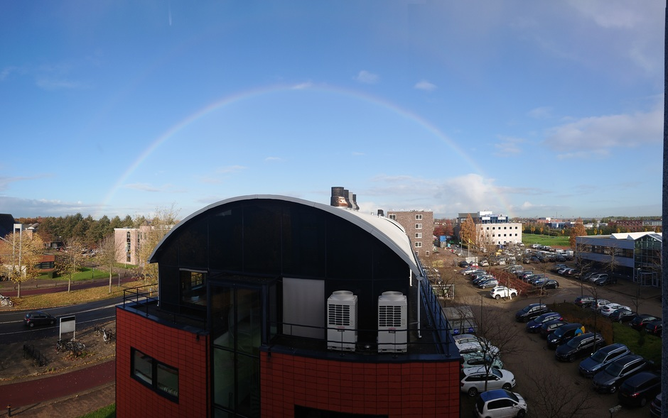 Fraaie regenboog boven Houten