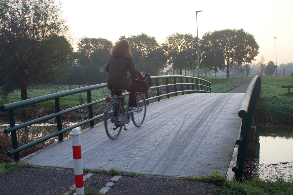 Oppassen voor gladde bruggetjes