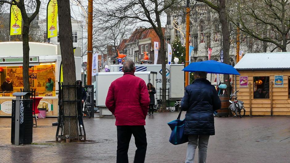 Miezer en paraplu nodig
