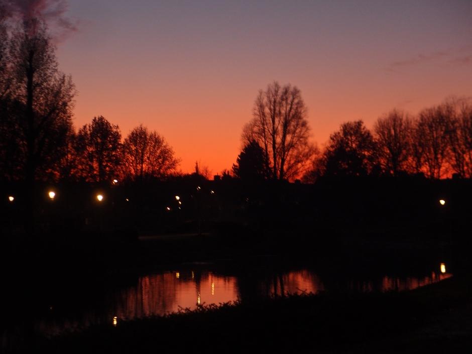 01-12-2019 Vurige zonsondergang