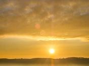 Sunride over the Gordano Valley
