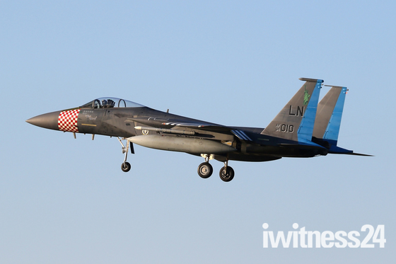 'The King' landing at RAF Lakenheath.