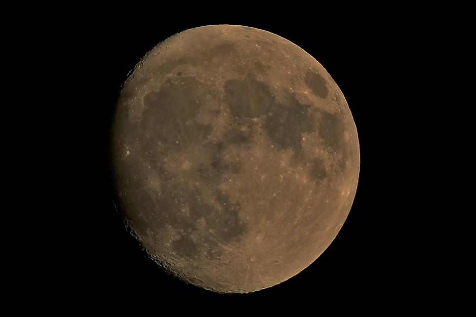 De maan vanavond