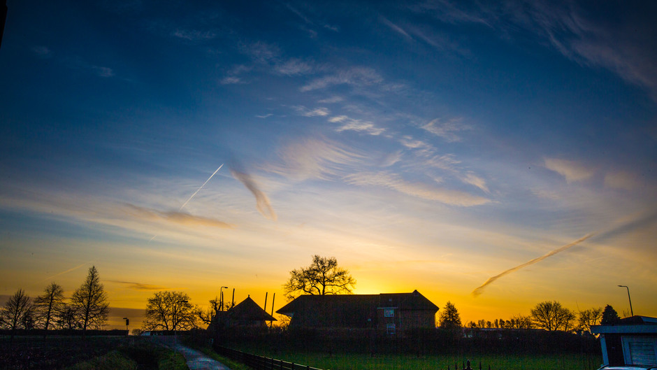 Gekleurde zonsopkomst