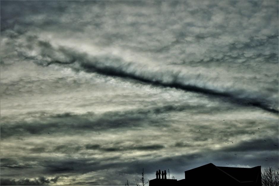 Weersomslag In Aantocht Met Fraaie Wolkenstuctuur