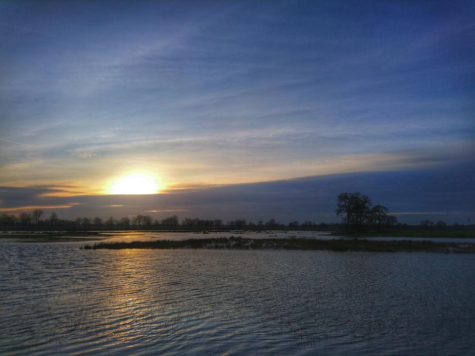En toen werd het in het oosten van het land ook bewolkt.