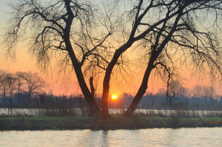 Een mooie opkomende Zon op Donderdag 12 December