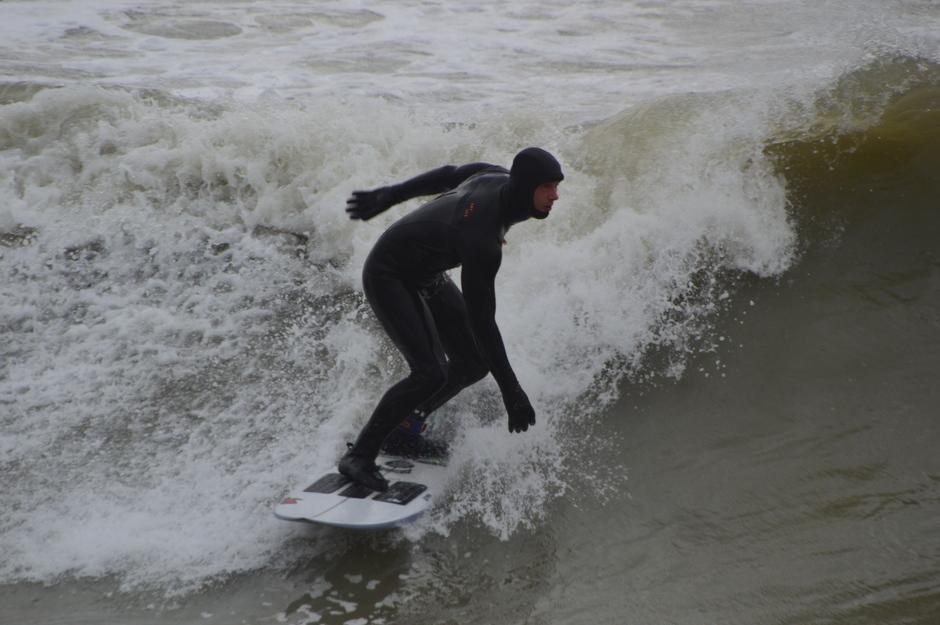 Surfen op de golven vanmiddag