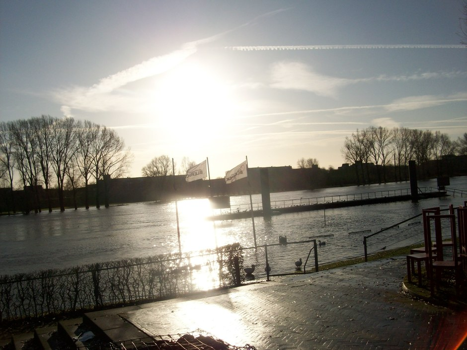 Zon in de Maas