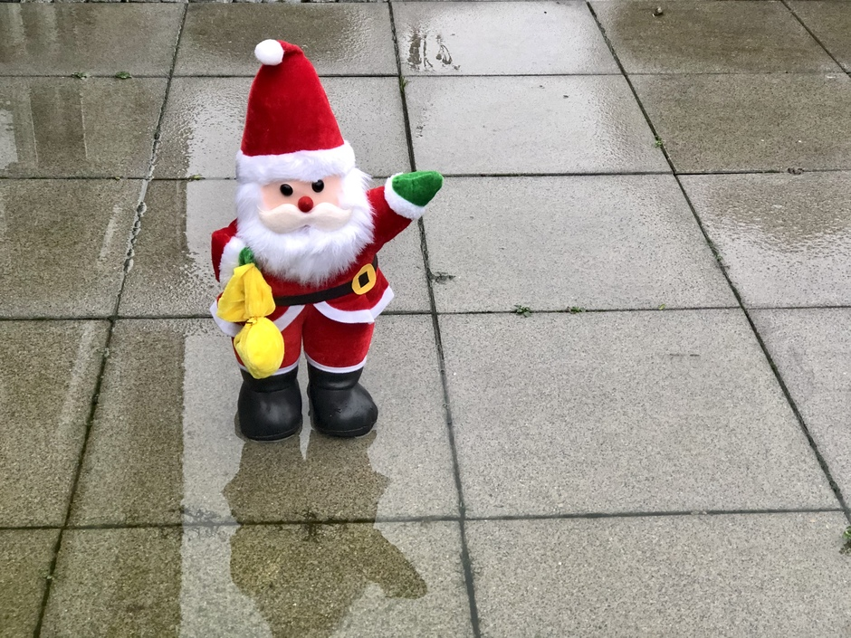 Grijs en nat HoHoHo maar met die regen