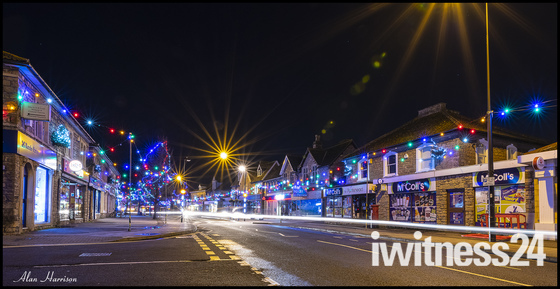 High Street Christmas lights