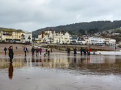 Boxing Day on Sidmouth Beach