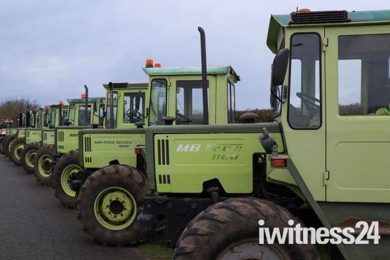 Boxing Day tractor run at larling