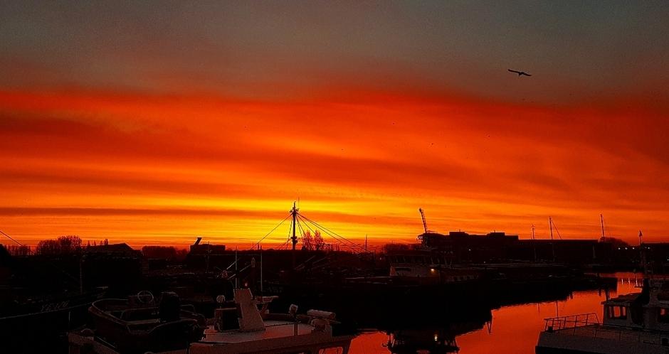 Prachtige zonsopkomst