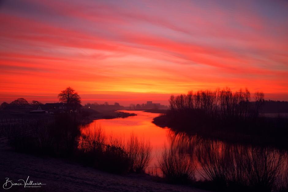 Kleurrijke, koude ochtend