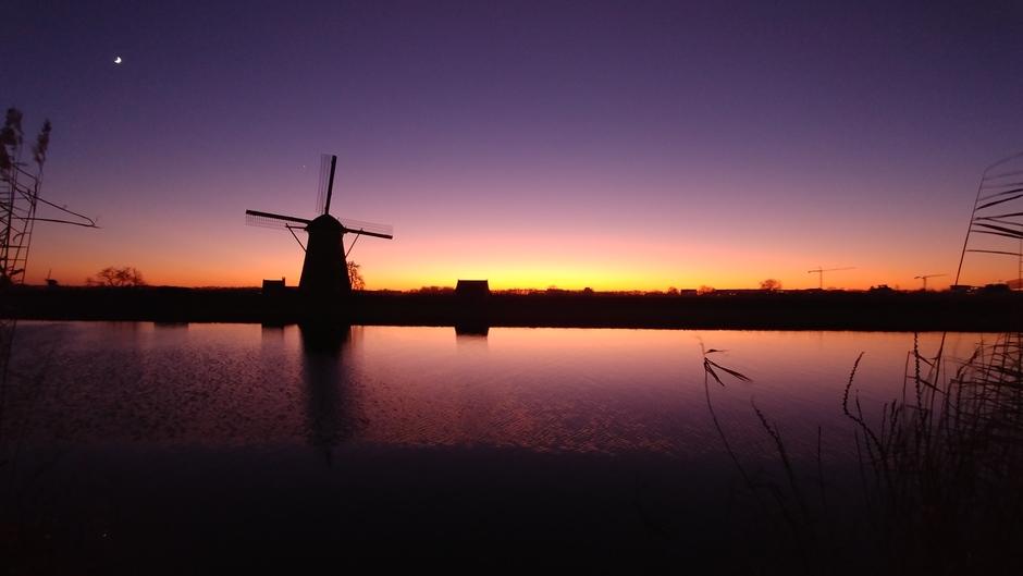 Mooie nakleuren na zonsondergang